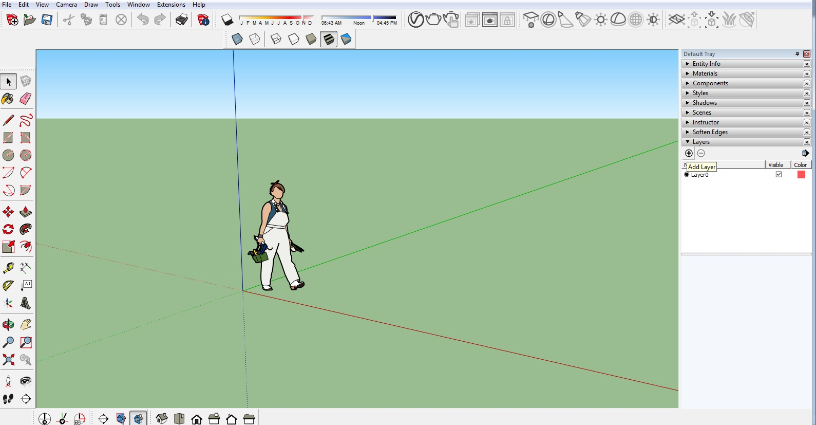 Sketchup - Jak dodać warstwy? Poradnik, tutorial - Blog