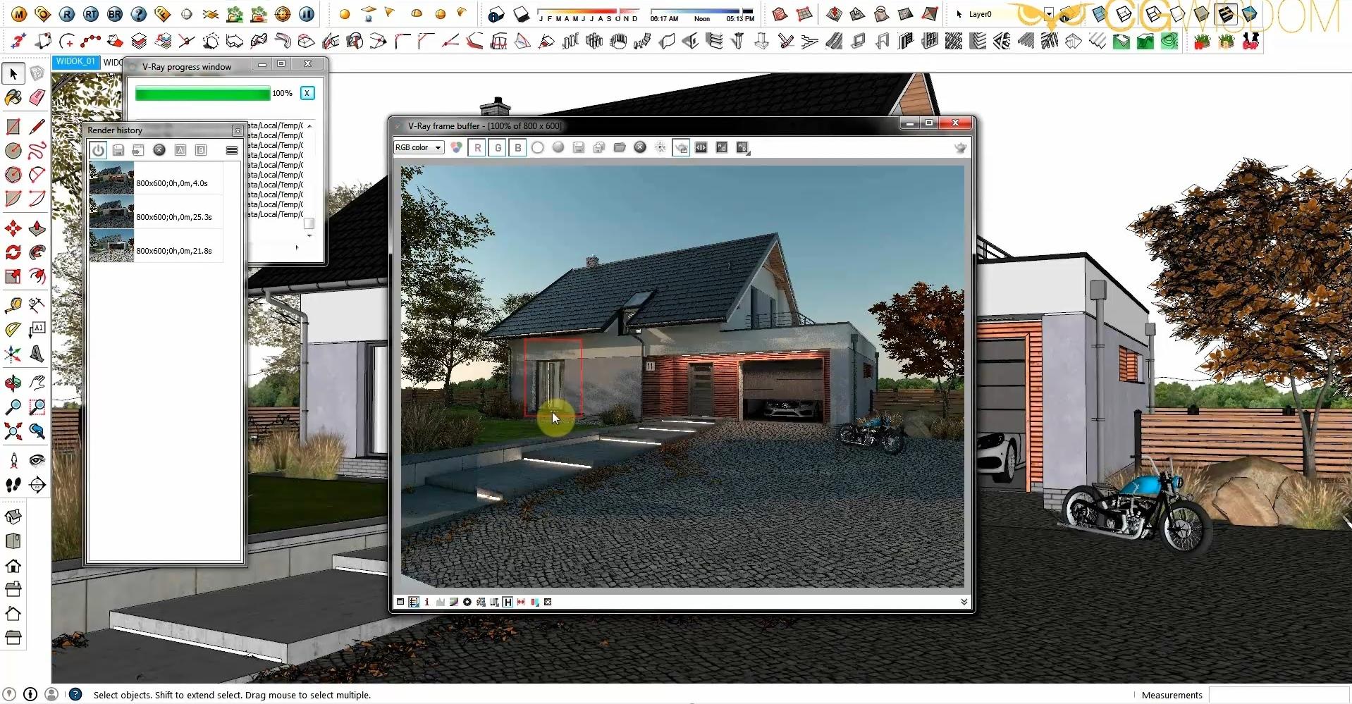 Kurs Sketchup Vray Wizualizacja Domu Jednorodzinnego Cg